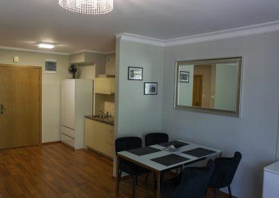 Aneks kuchenny Apartament Platynowa Róża do wynajęcia blisko morza w Świnoujściu.